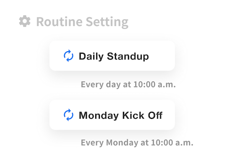 Flexible repetition settings that can be set by month, week, day, or weekday