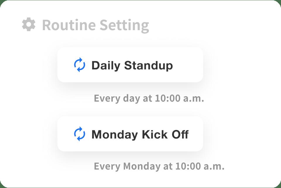 月・週・曜日・日単位で設定できる柔軟な繰り返し設定